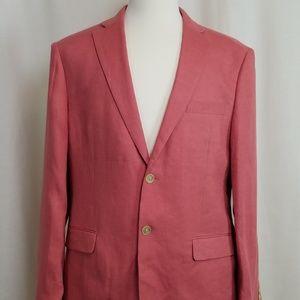 NWoT Lauren by RL 100% Linen Red Sport Coat